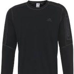 Adidas black workout sweatshirt.. large EUC